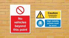 printed correx signs