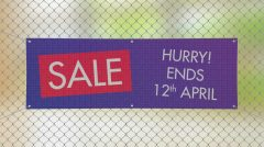 printed mesh banner